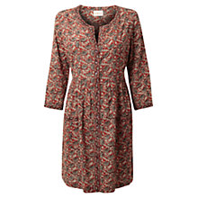 Buy East Selina Print Cotton Tunic Dress, Rust Online at johnlewis.com