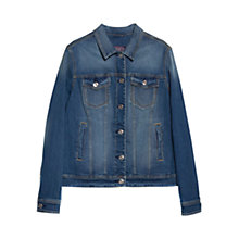 Buy Violeta by Mango Denim Jacket, Medium Blue Online at johnlewis.com