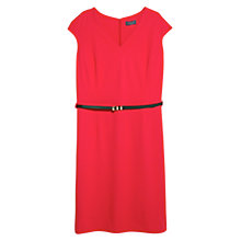 Buy Violeta by Mango Skinny Belt Dress, Red Online at johnlewis.com