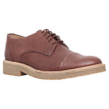Buy KG by Kurt Geiger Sterling Derby Shoes, Tan Online at johnlewis.com