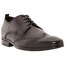 Buy Dune Revolve Leather Wingtip Derby Shoes, Black Online at johnlewis.com