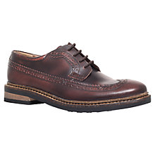 Buy KG by Kurt Geiger Arthur Leather Brogues, Brown Online at johnlewis.com