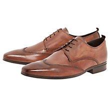 Buy Dune Revolve Leather Wingtip Derby Shoes Online at johnlewis.com