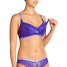 Buy Heidi Klum Intimates Madeline Maternity Nursing Bra, Royal Blue / Vista Blue Online at johnlewis.com