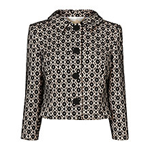 Buy Phase Eight Verina lace Jacket, Black/Nude Online at johnlewis.com
