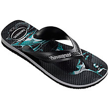 Buy Havaianas Heroes Batman Flip Flop, Black Grey Online at johnlewis.com