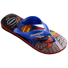 Buy Havaianas Children's Heroes Superman Flip Flops, Blue Online at johnlewis.com