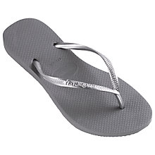 Buy Havaianas Children's Slim Flip Flops, Grey Online at johnlewis.com
