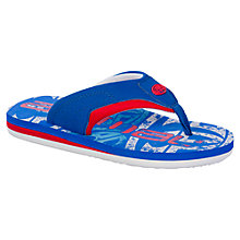 Buy Animal Children's Jekyl Logo Print Flip Flops, Blue Online at johnlewis.com