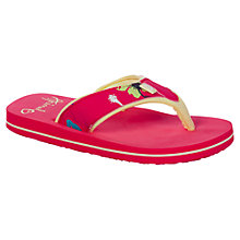 Buy Animal Children's Swish Paradise Flip Flops, Pink Online at johnlewis.com