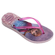 Buy Havaianas Frozen Slim Flip Flops, Rose Online at johnlewis.com