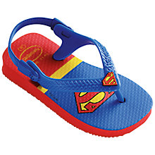 Buy Havaianas Superman Children's Flip Flops, Red Online at johnlewis.com