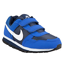 Buy Nike MD Runner Trainers, Blue/Navy Online at johnlewis.com