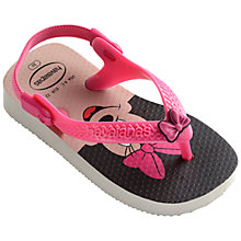 Buy Havaianas Baby's Disney Minnie Mouse Flip Flops, Pink/Multi Online at johnlewis.com