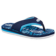 Buy Animal Children's Jekyll Flip Flops, Blue/White Online at johnlewis.com