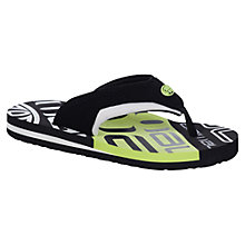 Buy Animal Jekyl Slice Flip Flops, Black/Green Online at johnlewis.com