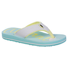 Buy Animal Children's Swish Flip Flops, Turquoise Online at johnlewis.com