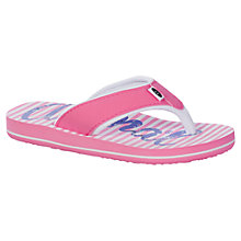 Buy Animal Children's Swish Flip Flops, Pink/White Online at johnlewis.com