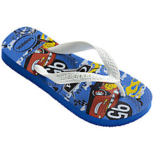 Buy Havaianas Cars Children's Flip-Flops, Blue/Multi Online at johnlewis.com
