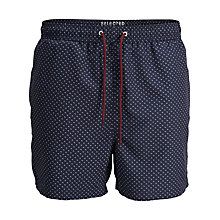 Buy Selected Homme Dot Pattern Swim Shorts, Navy Online at johnlewis.com