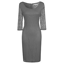 Buy True Decadence Lace Layer Midi Dress, Grey Online at johnlewis.com