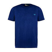 Buy Fred Perry Herringbone Check Trim T-Shirt Online at johnlewis.com