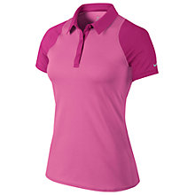 Buy Nike Sphere Short Sleeve Tennis Polo Shirt, Pink Online at johnlewis.com