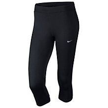 Buy Nike DF Essential Capri Pants, Black Online at johnlewis.com