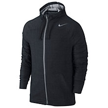 Buy Nike Dri-FIT Touch Fleece Full-Zip Training Hoodie, Black Online at johnlewis.com