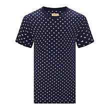 Buy JOHN LEWIS & Co. Ditsy Leaf Crew Neck T-Shirt, Navy Online at johnlewis.com