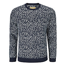 Buy JOHN LEWIS & Co. Tropical Leaf Slub Sweatshirt, Navy Online at johnlewis.com