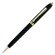 Buy Cross Townsend Pen, Black/Gold, Rollerball Online at johnlewis.com