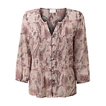 Buy East Antoinette Print Blouse, Blush Online at johnlewis.com