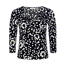 Buy Precis Petite Tulip Print 3/4/ Sleeve Top, Multi Dark Online at johnlewis.com