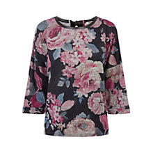 Buy Oasis Oversized Floral Sweat Top, Multi Online at johnlewis.com