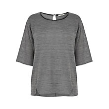 Buy Oasis Drop Sleeve Sweat Top, Grey Marl Online at johnlewis.com