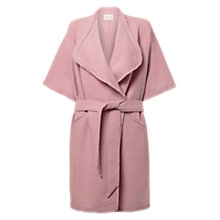 Buy East Waterfall Felted Wool Coatigan, Soft Blush Online at johnlewis.com