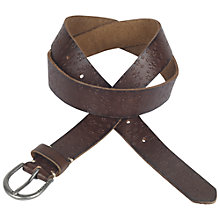 Buy Fat Face Daisy Embossed Belt, Chocolate Online at johnlewis.com
