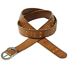 Buy Fat Face Flower Cut-Out Belt, Dark Tan Online at johnlewis.com