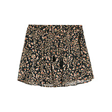 Buy Mango Floral Chiffon Skirt, Black Online at johnlewis.com