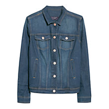 Buy Violeta by Mango Denim Jacket, Navy Online at johnlewis.com