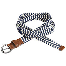 Buy Fat Face Lucy Braided Rope Belt, Navy Online at johnlewis.com