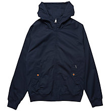Buy Ben Sherman Hooded Harrington Jacket, Staples Navy Online at johnlewis.com