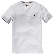 Buy Hilfiger Denim Hanson Continuity Logo T-Shirt, Classic White Online at johnlewis.com