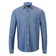 Buy Woolrich John Rich & Bros. Dobby Cotton Shirt, Midnight Navy Online at johnlewis.com