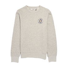 Buy Ben Sherman Long Sleeve Printed Sweatshirt, Silver Online at johnlewis.com