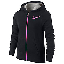 Buy Nike Girls' YA76 GFX Full Zip Hoodie Online at johnlewis.com