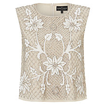 Buy Needle & Thread Floral Mesh Top, Dust Rose Online at johnlewis.com
