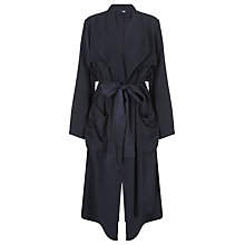 Buy Ghost Longline Tie Belt Jacket, Carbon Online at johnlewis.com