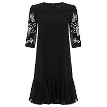 Buy Needle & Thread Petal Dress, Black Online at johnlewis.com